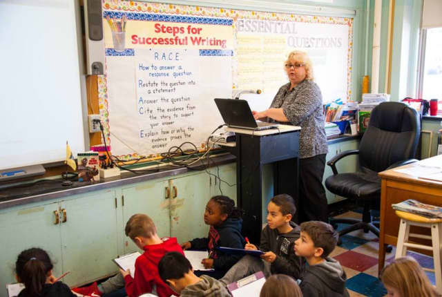 Christine Hopkins has been named one of Bergenfield's teachers of the year.
