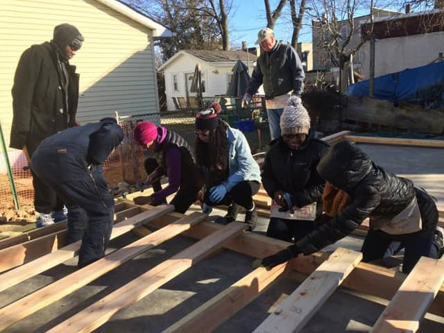 Habitat for Humanity volunteers started work over the weekend to build a new three-bedroom house on a vacant lot in Haverstraw.