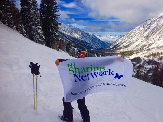 Transplant Coordinator Courtney DiStefano supports New Jersey Sharing Network at Snowbird Ski and Summer Resort in the Wasatch Range of the Rocky Mountains, in Utah.