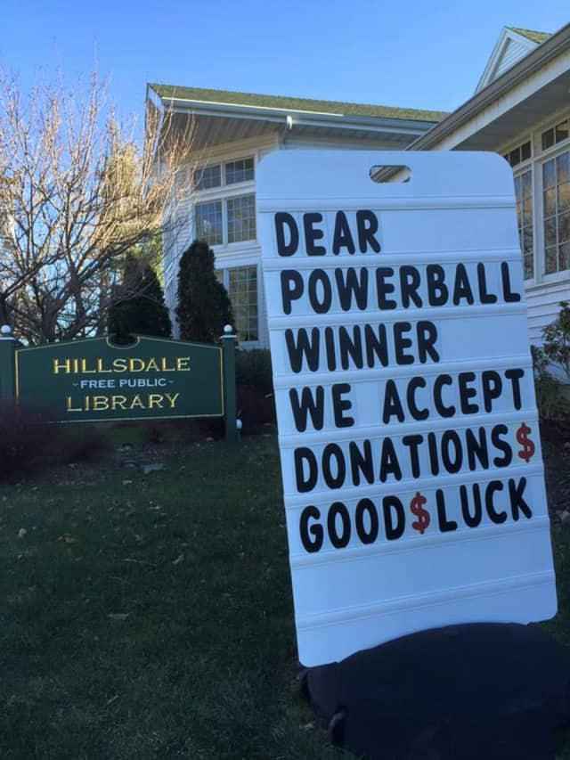 The HFPL hopes the winner will remember this sign.