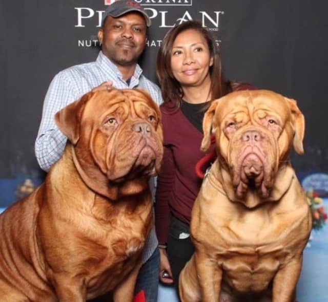 Humphrey and Scarlett with owners Lizka and Jose Baez of Bogota.