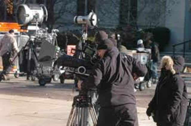 Filming started Tuesday in Clarkstown for several action television scenes.