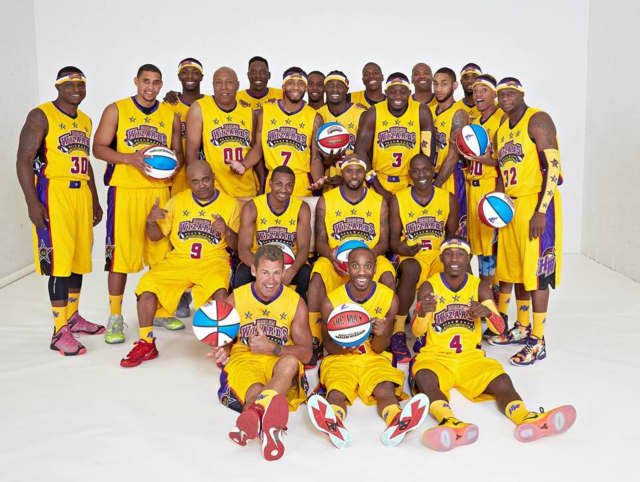 The Harlem Wizards are playing against Waldwick teachers on May 6. Courtside Plus tickets are almost sold out.