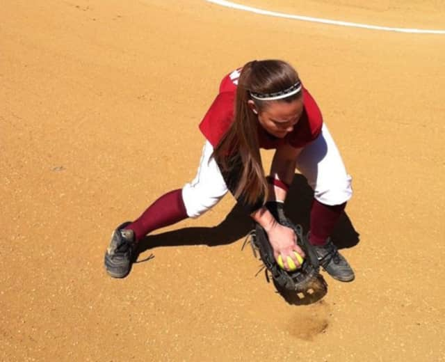 Danielle Regina of Pompton Lakes fields a ground ball.