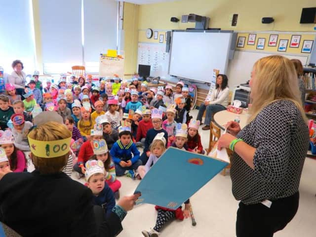 Students take part in celebration of 100th day of school.