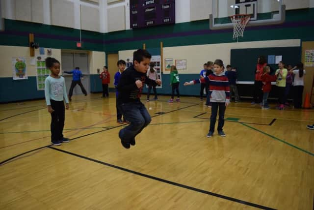 """Carlstadt Public School is participating in the National Heart Association's """"Jump Rope For Heart."""""""
