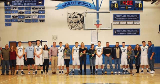 Westlake High School honored seven senior basketball players' contributions to the Mount Pleasant team.