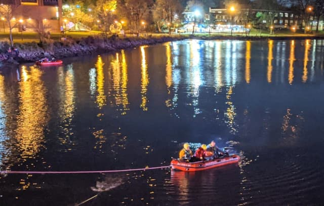 Hackensack firefighters using a boat and ropes pulled the suicidal man from the river.