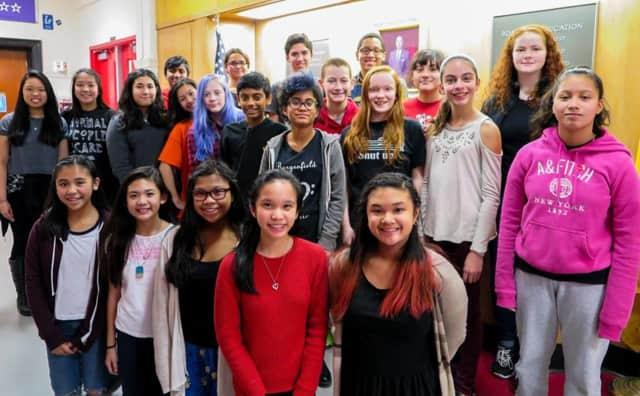 Twenty-three Bergenfield students were selected for regional middle-school choruses.