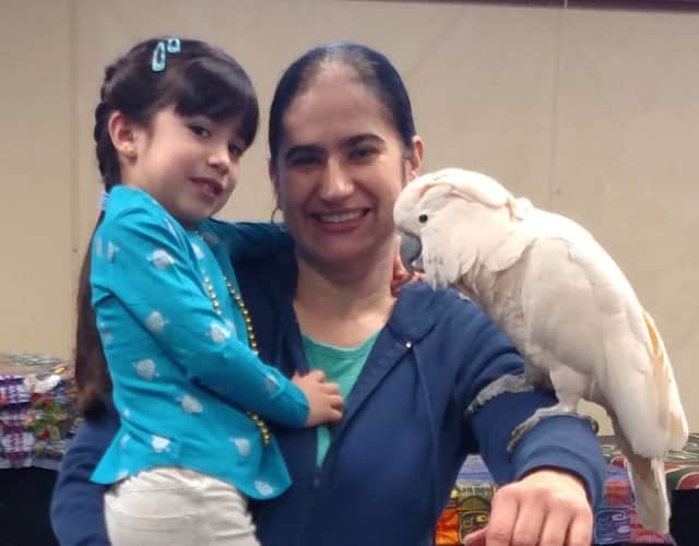 Tiki the Moluccan cockatoo made lots of new friends during the Take Your Child To the Library Day at the West Nyack Free Library.
