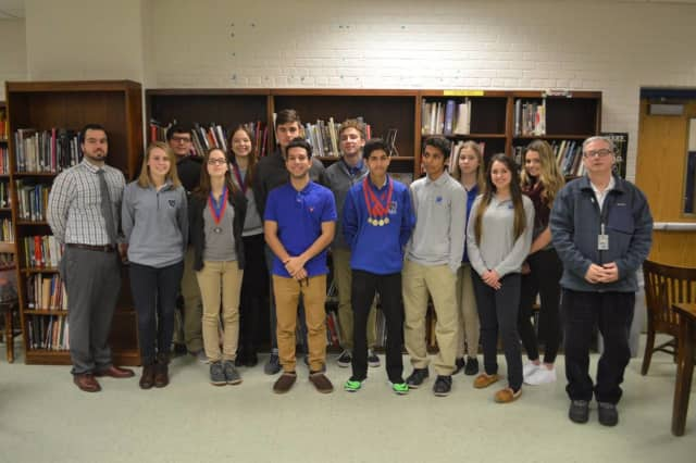 Wallington students (pictured) competed in an academic decathlon Jan. 31.