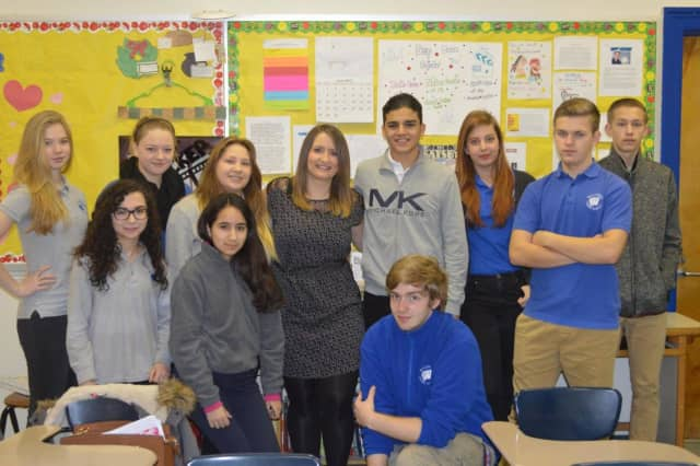 Paulina Urban with her students.