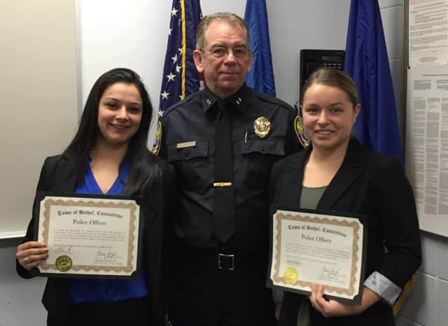 Officers Jessenia Beamonte and Officer Amelia Fekieta are the newest Bethel police officers.
