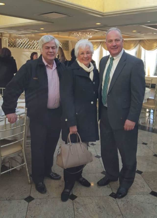 Saddle Brook Business Administrator, Municipal Clerk Peter Lo Dico, former Saddle Brook Municipal Clerk Joyce Larena and Mayor Robert White.