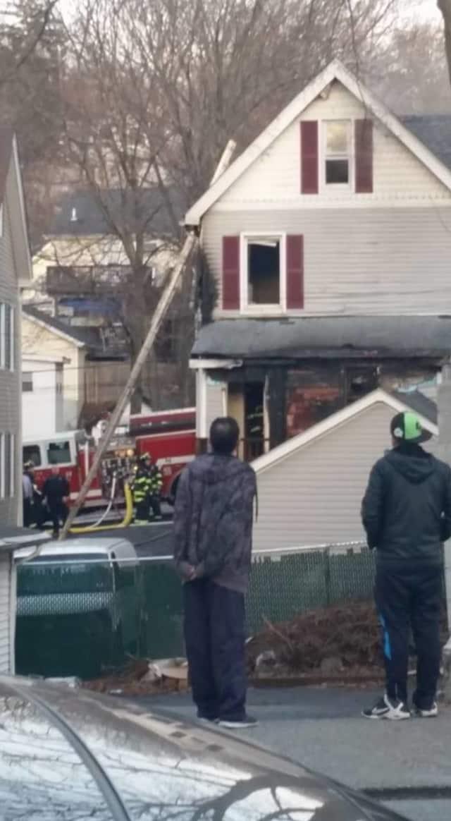 Firefighters at Harrison Avenue in Peekskill