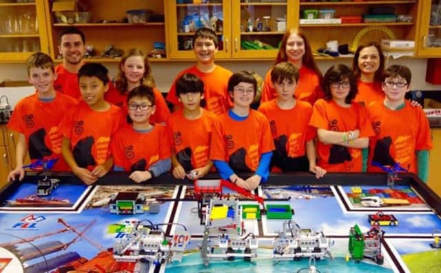 The Hommocks Middle School's robotics team, sponsored and led by the STEM Alliance of Larchmont-Mamaroneck, took home first place in the Hudson Valley First LEGO League Robotics competition Feb. 6.