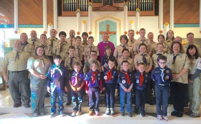 Cub Scout Pack 222 in Saddle Brook will hold its Blue and Gold Dinner on Saturday.