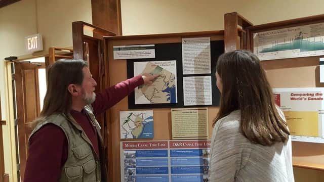 The Canal Society of New Jersey has set up an educational display in the Council chambers.