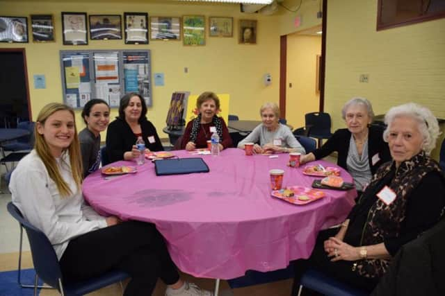 Briarcliff High School students and local seniors.