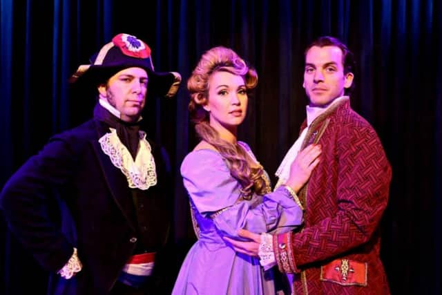 "Rhino Theatre in Pompton Lakes will present ""The Scarlet Pimpernel"" in March."