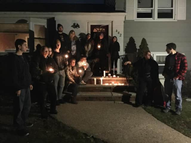 A memorial service was held Monday night outside the Northvale where Sully's corpse was found.
