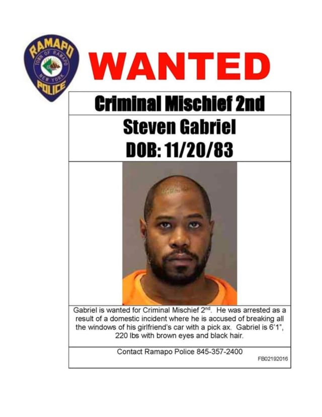 Steven Gabriel is wanted in connection with a domestic incident.