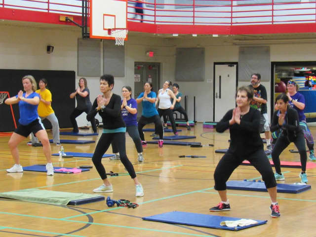 An exercise class at the Regional YMCA of Western Connecticut in Brookfield. The Regional YMCA of Western Connecticut and a greater Danbury coalition called Getting There have joined to raise interest in the importance of physical activity.