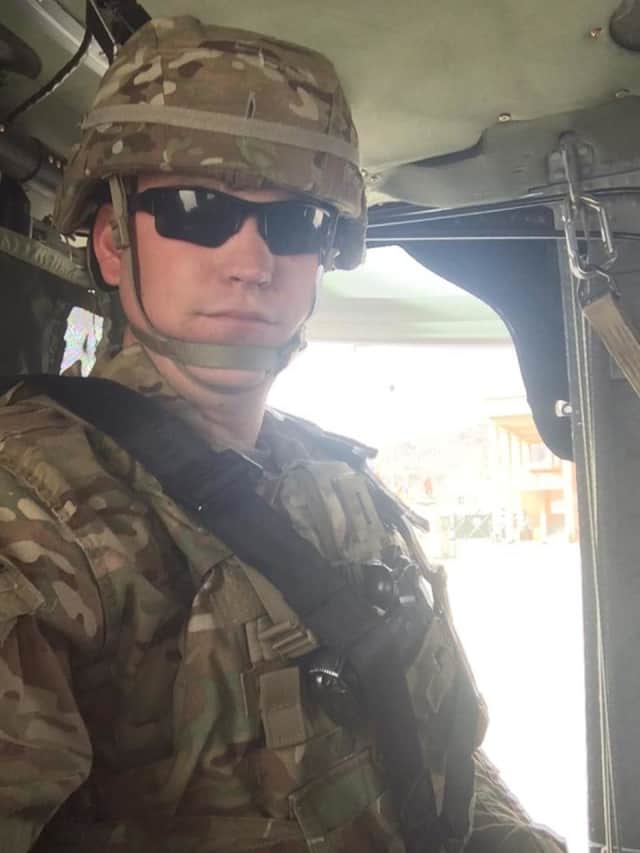 Ridgefield police officer Matthew Seibert recently returned from duty in Kabul, Afghanistan as a member of the Connecticut Army National Guard.