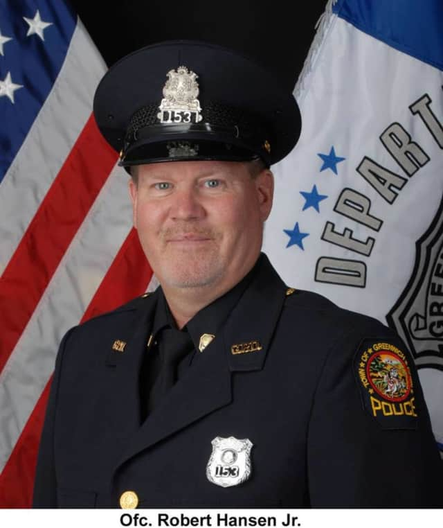Greenwich native, Officer Robert Hansen is retiring from the Greenwich Police Department after serving for 28 years.