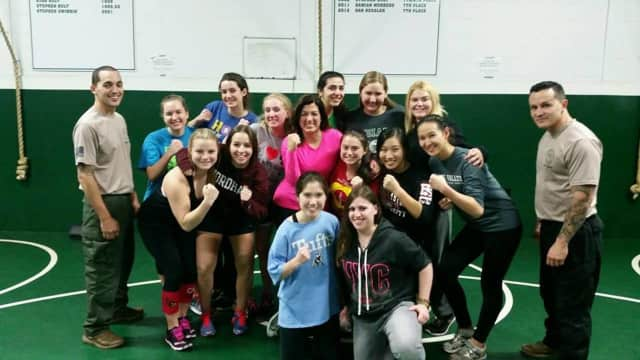 Pascack Valley Police offered self defense classes.