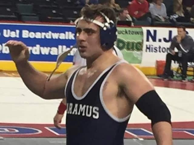 Michael Daniele of Paramus High School at the state tournament Friday in Atlantic CIty.