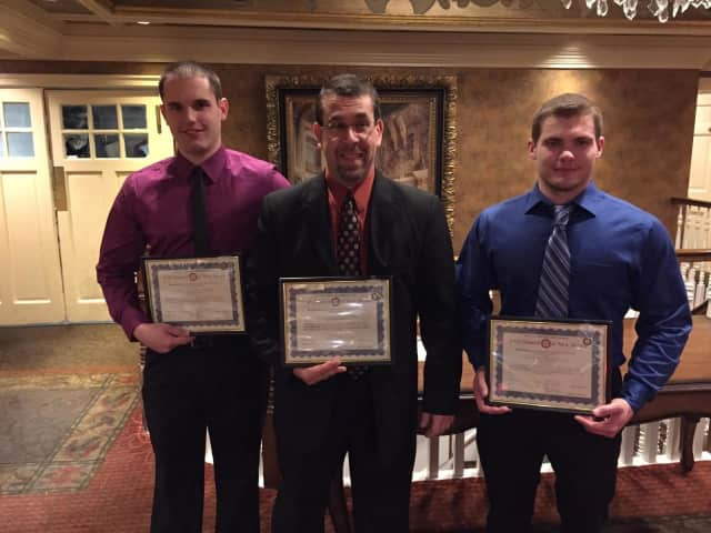 Brian VanCleve, Joe Rector and Matt Bovino were recently honored for their service.