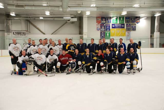The Clarkstown Police Department took on New York City firefighters in a hockey game to help raise funds for the Avery family.