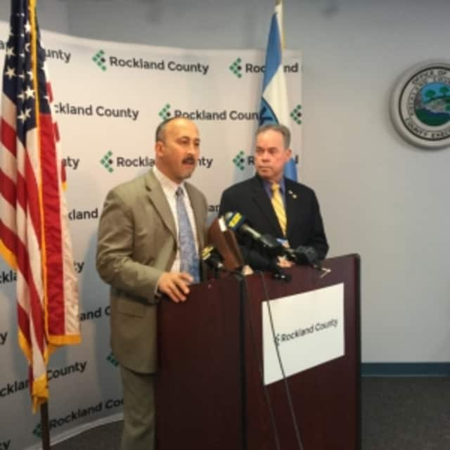 Rockland Assistant County Attorney Tom Simeti and Rockland County Executive Ed Day announced that the county is suing Suez and others for a failed desalination water plant.