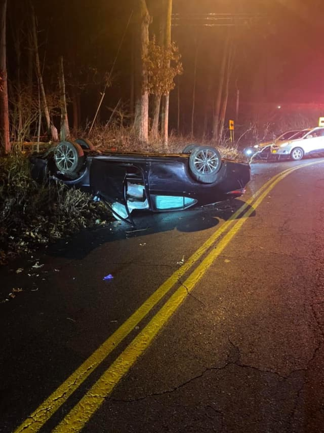 A man was arrested for DWI/Drugs after rolling his vehicle in Rockland County.
