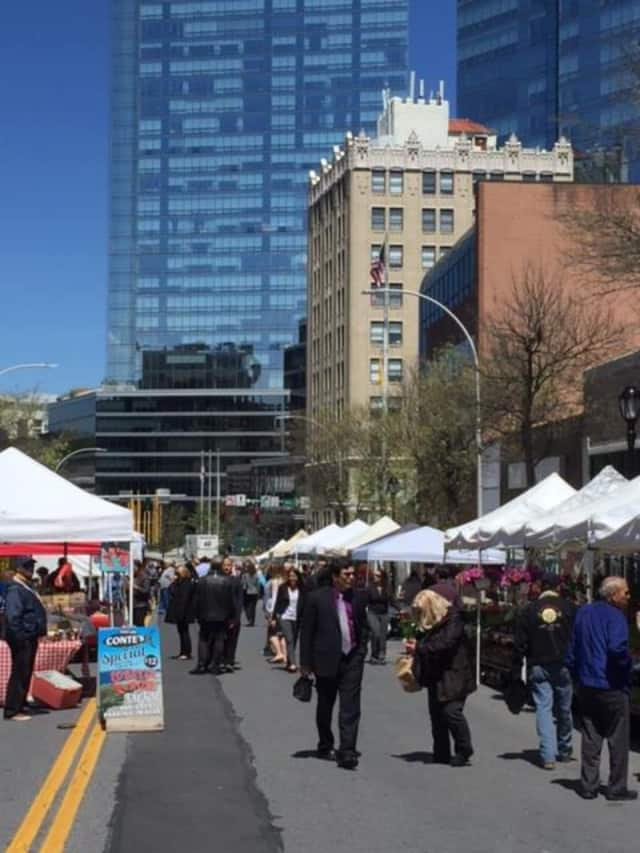 The Farmer's Market in White Plains.