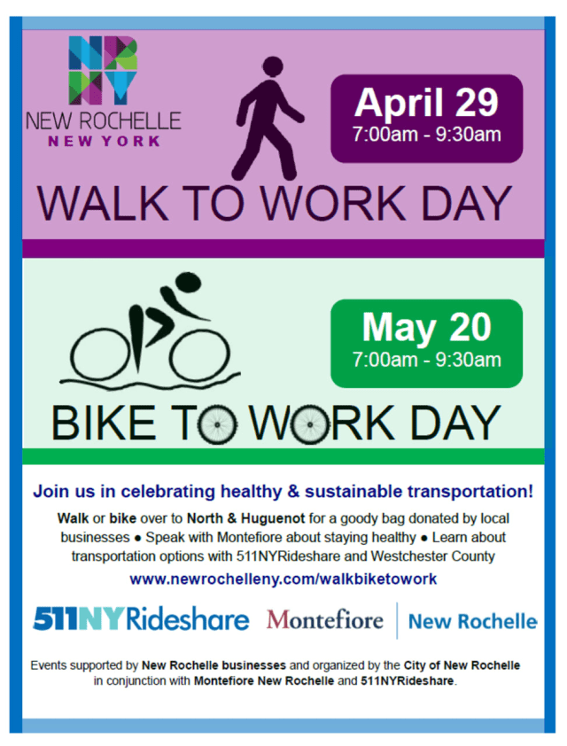 """A flier for """"Walk To Work Day"""" and """"Bike To Work Day."""""""