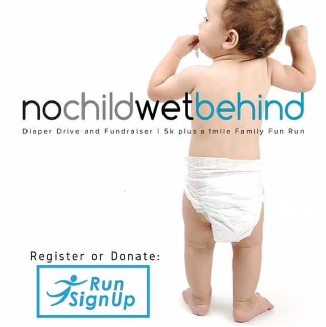 The Northeast Doulas will hold their annual No Child Wet Behind Diaper Drive & 5K Run on Saturday, May 21.