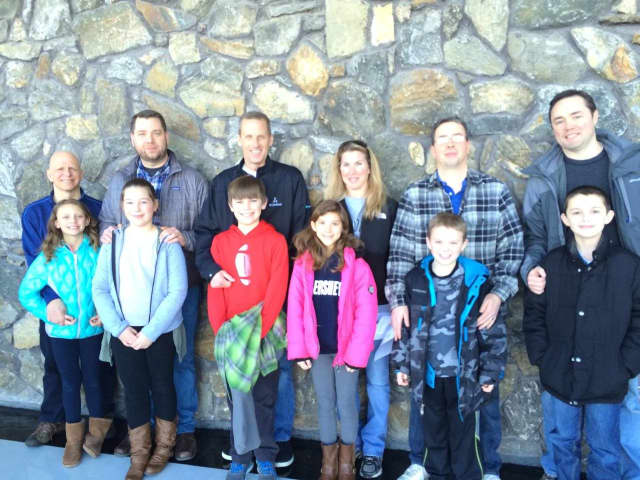 Mr. Healy and daughter Audrey, Mr. Griffin and daughter Megan, Mr. Thompson and son Matthew, Mrs. Tucker and daughter Makenzie, Mr. Anderson and son Christopher, Mr. Drew and son Brendan.