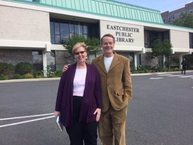 The Eastchester Library recently received a visit from Emmy Award-winning actor Bryan Cranston while he was in Eastchester to film a movie.