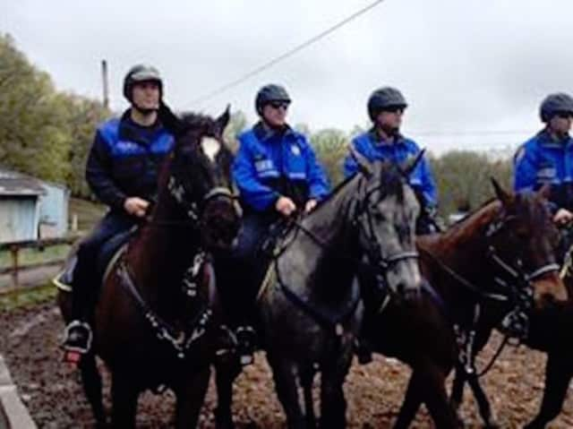 The Rockland Sheriff's Office is conducting mounted training for police officers.
