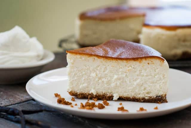 Classic vanilla bean cheesecake from Despina's Cream Bakery in New Milford.