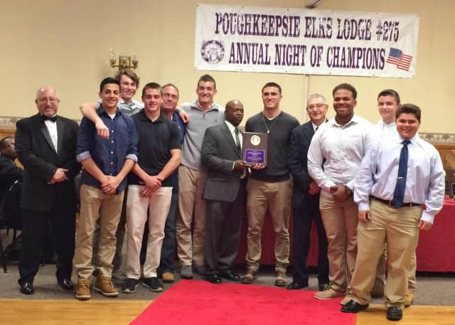 Lourdes football team was honored at the Elks Lodge.