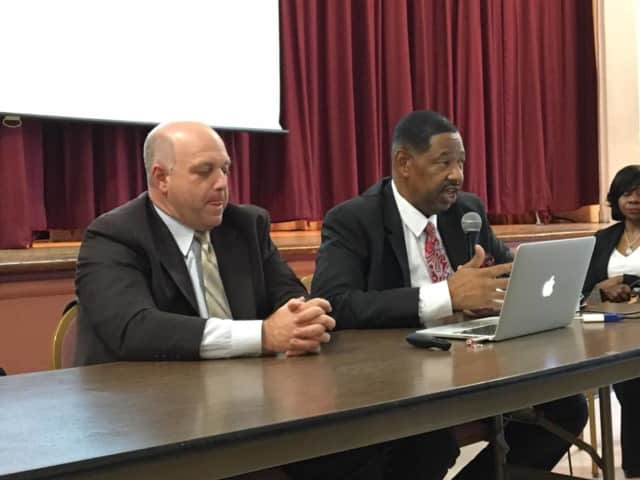 Mount Vernon Schools Superintendent Kenneth Hamilton and the Board of Education unanimously approved the proposed $238 million budget that will be put to vote on Tuesday.