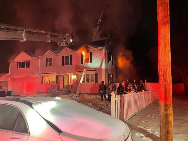A family of seven was left homeless following a fire at their two-story home in Stratford.