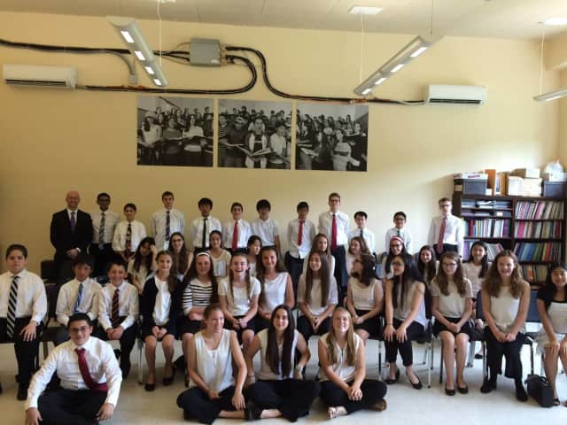 The Eastchester Middle School Eighth-Grade Band earned a gold rating.