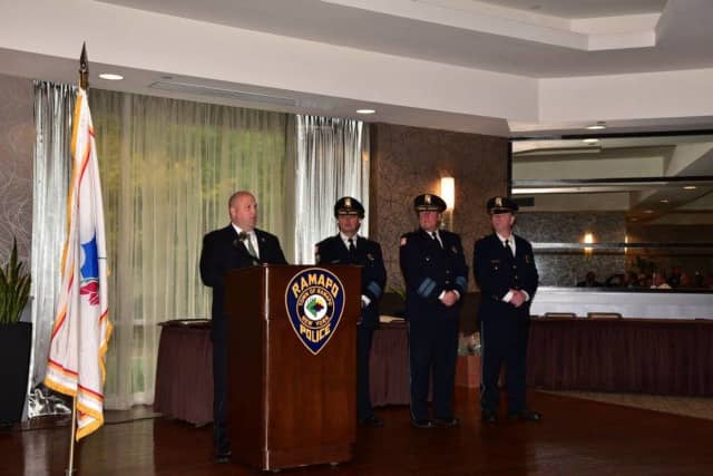 Ramapo Police received awards at the breakfast.
