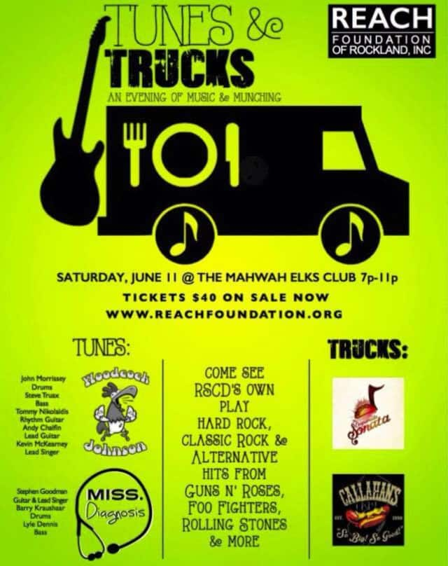 The flier for Tunes and Trucks