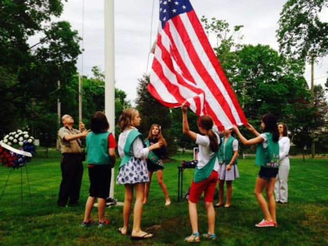 Girl Scouts will perform at a special Memorial Day flag raising ceremony May 30 in the Village of Nichols.