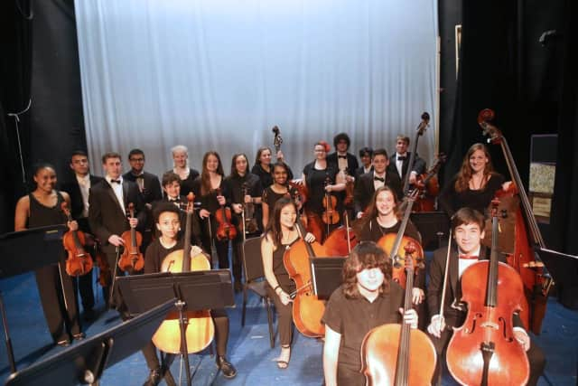 The Pelham High School orchestra won a gold medal with distinction from the New York State School Music Association.